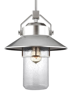 Feiss Boynton 1 Light Outdoor Pendant in Painted Brushed Steel Finish OL13912PBS