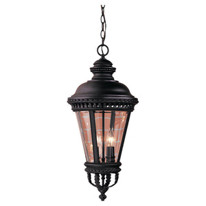 Feiss Castle 4 Light Outdoor Pendant in Black Finish OL1911BK