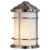Feiss Lighthouse 1 Light Outdoor Wall Sconce in Brushed Steel Finish OL2203BS