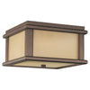 Feiss Mission Lodge 2 Light Outdoor Lighting Outdoor Ceiling in Corinthian Bronze Finish OL3413CB