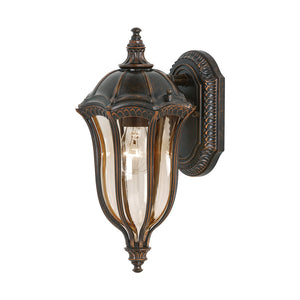 Feiss Baton Rouge 1 Light Outdoor Wall Sconce in Walnut Finish OL6001WAL