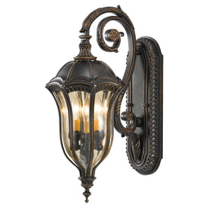 Feiss Baton Rouge 3 Light Outdoor Wall Sconce in Walnut Finish OL6002WAL