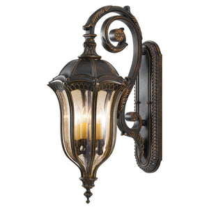 Feiss Baton Rouge 4 Light Outdoor Wall Sconce in Walnut Finish OL6004WAL
