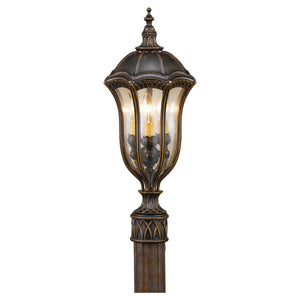 Feiss Baton Rouge 3 Light Outdoor Post Lantern in Walnut Finish OL6007WAL