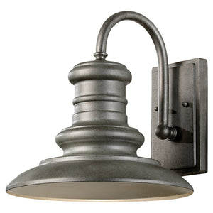Feiss Redding Station 1 Light Outdoor Wall Sconce in Tarnished Silver Finish OL8601TRD