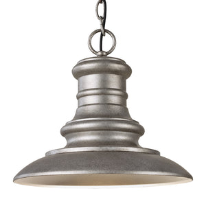 Feiss Redding Station 1 Light Outdoor Pendant in Tarnished Silver Finish OL8904TRD-L1