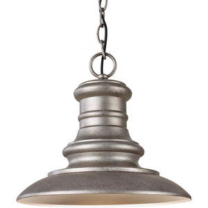 Feiss Redding Station 1 Light Outdoor Pendant in Tarnished Silver Finish OL8904TRD