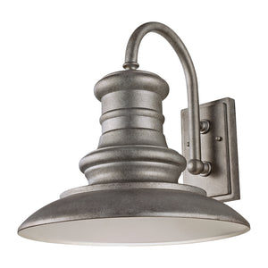 Feiss Redding Station 1 Light Outdoor Wall Sconce in Tarnished Silver Finish OL9004TRD-L1