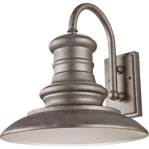 Feiss Redding Station 1 Light Outdoor Wall Sconce in Tarnished Silver Finish OL9004TRD