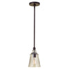 Feiss Urban Renewal 1 Light Mini Pendant in Oil Rubbed Bronze Finish P1261ORB