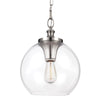 Feiss Tabby 1 Light Mini Pendant in Brushed Steel Finish P1307BS