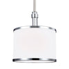 Feiss Prospect Park 1 Light Mini Pendant in Satin Nickel / Chrome Finish P1417SN/CH