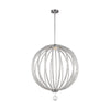 Feiss Oberlin 2 Light Large Pendant in Satin Nickel Finish P1428SN-L1