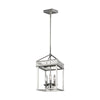 Feiss Woodruff 3 Light Pendant in Polished Nickel Finish P1480PN