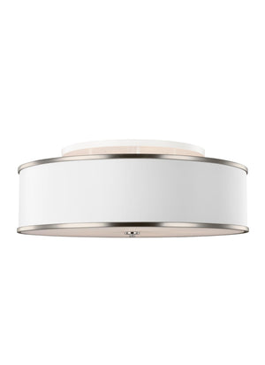 Feiss Lennon 5 Light Semi Flush Mount in Satin Nickel Finish SF340SN
