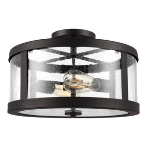 Feiss Harrow 2 Light Semi Flush Mount in Oil Rubbed Bronze Finish SF341ORB