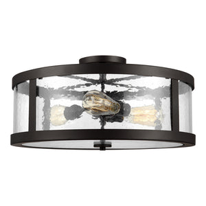 Feiss Harrow 3 Light Semi Flush Mount in Oil Rubbed Bronze Finish SF342ORB