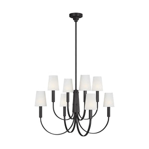 Logan 8 Light Chandelier in Aged Iron by Thomas O'Brien TC1088AI