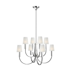 Logan 8 Light Chandelier in Polished Nickel by Thomas O'Brien TC1088PN