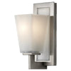 Feiss Clayton 1 Light Bathroom Vanity in Brushed Steel Finish VS16601-BS