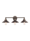 Feiss Hooper 3 Light Bathroom Vanity in Antique Bronze Finish VS23403ANBZ