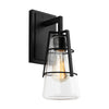 Feiss Adelaide 1 Light Wall Sconce in Midnight Black Finish VS2471MBK