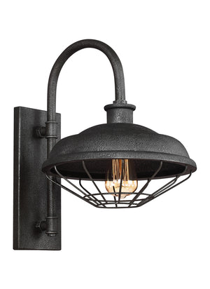 Feiss Lennex 1 Light Outdoor Wall Sconce in Slate Grey Metal Finish WB1828SGM