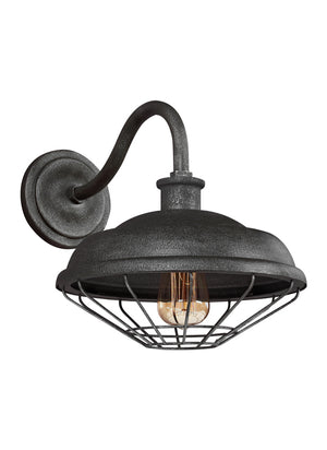 Feiss Lennex 1 Light Outdoor Wall Sconce in Slate Grey Metal Finish WB1829SGM