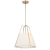Crystorama FUL-904-GA Fulton 3 Light Antique Gold Pendant