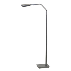 Generation adjustable LED floor lamp in platinum gray