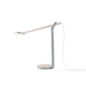 Gravy Desk Lamp in Silver Finish by Koncept GR1-W-MPW-SIL-DSK