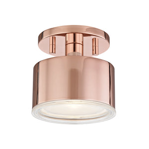Nora 1 Light Flush Mount By Mitzi H159601-POC in Polished Copper Finish