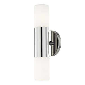 Lola 2 Light Wall Sconce By Mitzi H196102-PN in Polished Nickel Finish