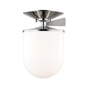 Audrey 1 Light Semi Flush By Mitzi H214601L-PN in Polished Nickel Finish