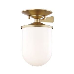 Audrey 1 Light Semi Flush By Mitzi H214601S-AGB in Aged Brass Finish