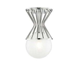 Petra 1 Light Semi Flush By Mitzi H267601-PN in Polished Nickel Finish