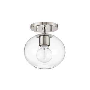 Margot 1 Light Semi Flush By Mitzi H270601-PN in Polished Nickel Finish