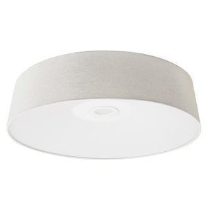 Cermack St Led Light Flush Mount In Ivory Linen Finish by Avenue Lighting HF9202-IVY