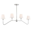 Crystorama KEE-A3004-PN Keenan 4 Light Polished Nickel Chandelier