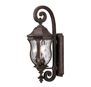 Monticello 3 Light Outdoor Wall Lantern in Walnut Patina Finish by Savoy House KP-5-300-40