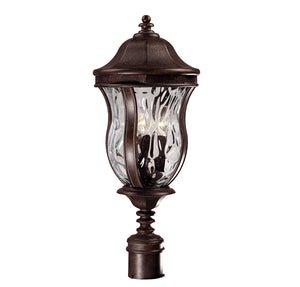 Monticello 3 Light Outdoor Post Lantern in Walnut Patina Finish by Savoy House KP-5-301-40
