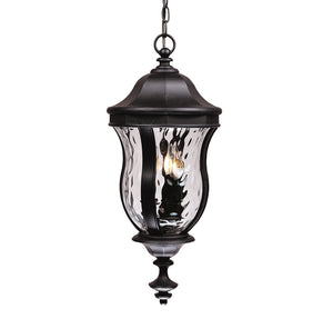 Monticello 3 Light Outdoor Hanging Lantern in Black Finish by Savoy House KP-5-302-BK