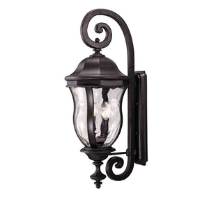 Monticello 4 Light Outdoor Wall Lantern in Black Finish by Savoy House KP-5-303-BK