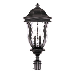 Monticello 4 Light Outdoor Post Lantern in Black Finish by Savoy House KP-5-308-BK