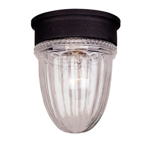 Exterior Collection 1 Light Outdoor Flush Mount in Textured Black Finish by Savoy House KP-5-4901C-31