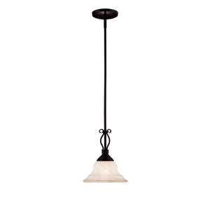 Oxford 1 Light Mini Pendant  in English Bronze Finish by Savoy House KP-SS-130-1-13