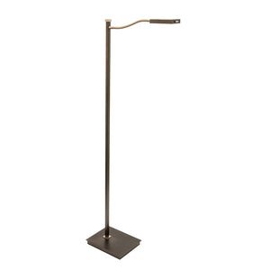 "52"" Lewis LED Gooseneck Floor Lamp in Granite with Satin Nickel"