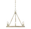 Benton 6 Light Natural Wood Chandelier by Aria Home Lighting