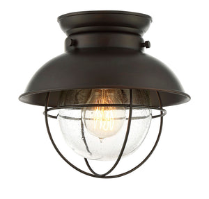 Elara 1 Light Oil Rubbed Bronze Flush Mount by Aria Home Lighting