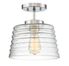 Elara 1 Light Chrome Semi Flush by Aria Home Lighting